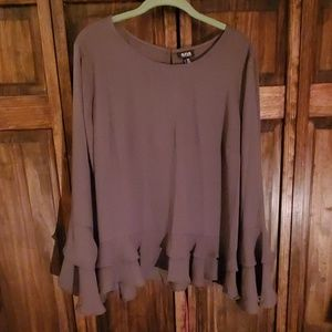 A.N.A. bell sleeve blouse, XXL, **NWT**